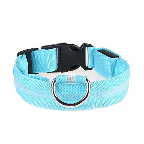 MEILUAIMU Suministros para Mascotas Collar Iluminado para Perros Collar LED Recargable Teddy Golden Retriever Collar para Mascotas para Perros Grandes, medianos y pequeños