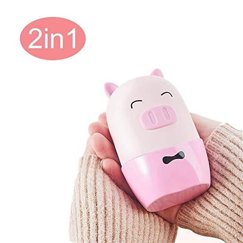 CSPFAIQL 2019 Nouveau Chauffe-Mains Rechargeable USB Chaufferette Main 6000mAh Power Bank Portable Anti-Déflagrant Électrique Poche Réchauffeur de Mains avec Sac de Velours,D-Pink