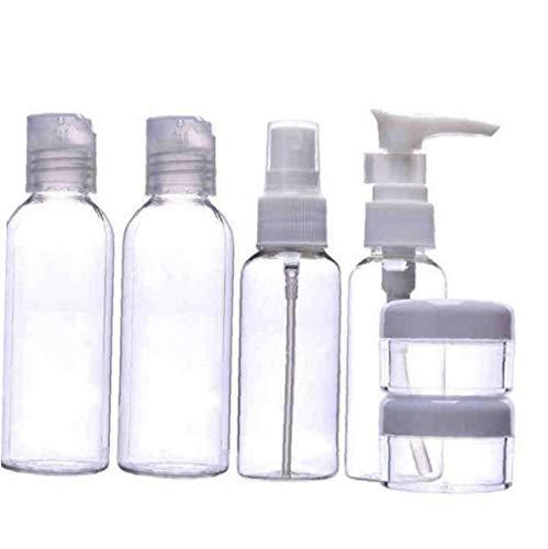 Ruluti 6 Botellas De Viajes Pc Cosméticas Transparentes De Plástico Aceites Esenciales Botellas Contenedores Mini Recargable Artículos De Tocador con Cremallera De La Bolsa