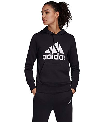 adidas - Sudadera con capucha para mujer (talla XL), color negro