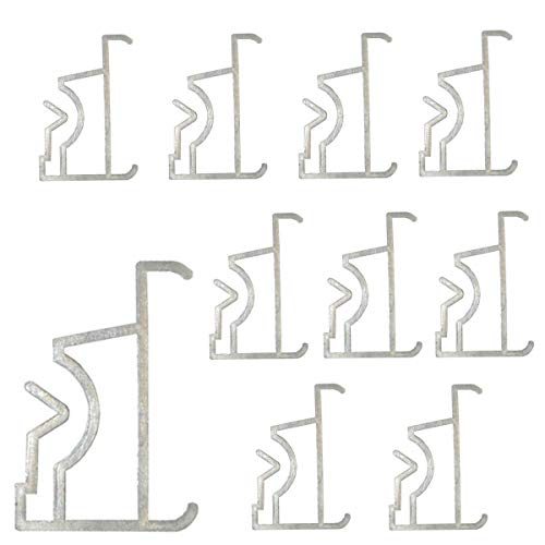 Cutelec Valance Clips 10PCS 2inch Clear Plastic for Window Blind Valance,Horizontal Faux & Wood Blinds Parts
