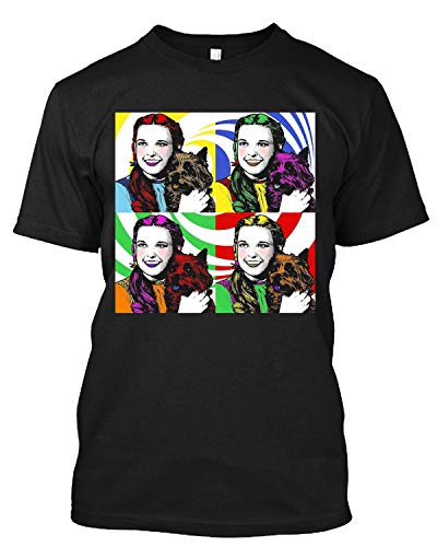 Dorothy Wizard of Oz Judy Garland Toto Wicked Gay Campy Movie T Shirt Gift Tee Black