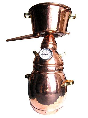 Dr. Richter® Destille 2 Liter Alquitara Premium (3 Siebe) für ätherische Öle / Hydrolate (anmeldefrei) 2L