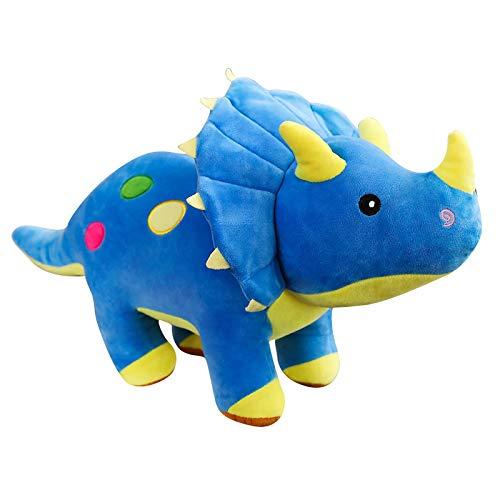 Juguete de Peluche Creativo Grande de Felpa Suave Triceratops Stegosaurus muñeco de Peluche Dinosaurio muñeca niños Dinosaurio Juguete Regalo de cumpleaños 40 / 60cm 40cm Azul