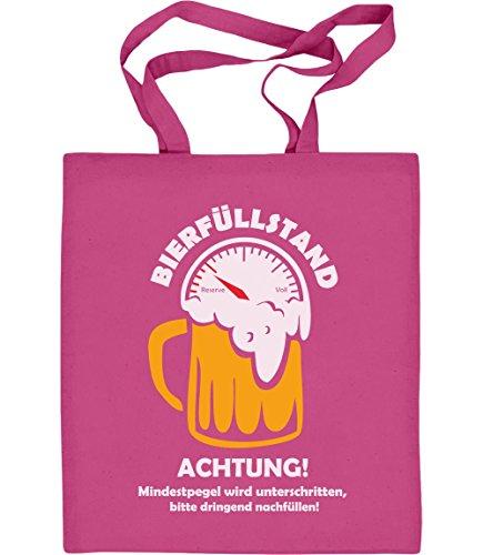 Shirtgeil Fasching Karneval JGA Bierfüllstand Party Outfit Jutebeutel Baumwolltasche One Size Rosa