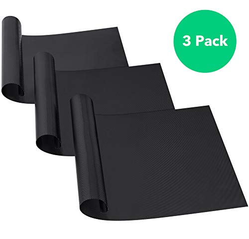 Vremi 3-Pack Nonstick Oven Liner Set - Heavy Duty and Heat Resistant Oven Liners for Electric Grill Gas Microwave and Toaster Ovens Rack - BPA and PFOA Free Reusable Non Stick Sheet Protectors