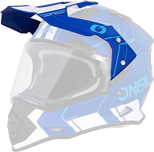 O\'NEAL   Motorrad-Helm-Ersatzteile   Street Adventure Motocross   Ersatzschirm Sierra Helmet Comb   Spare Visor Sierra Comb   Blau Weiß   One Size