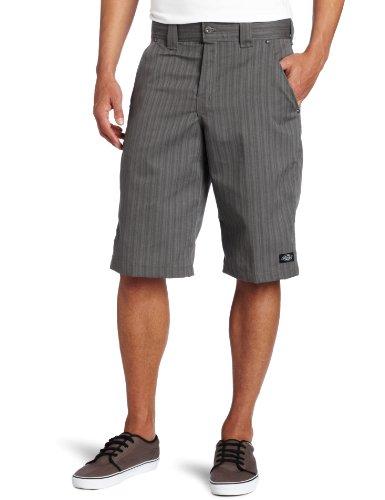 Dickies Mens 13 Inch Regular Fit Shadow Stripe Short, Graphite Grey, 34
