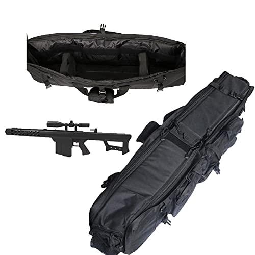 WZFANJIJ Bolsa De Pistola Equipo Militar TáCtico Bolsa De Caza Airsoft Al Aire Libre Estuche De Rifle Deportivo Mochila De ProteccióN De Transporte De Pistola para Disparar Caza,Black