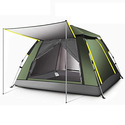 Tente de Camping familiale de 3 à 4 Personnes, Grande Hauteur Debout 100% étanche, tentes de Camping familiales protégées Contre Les Rayons UV, avec Sac de Transport (220x220x170cm)