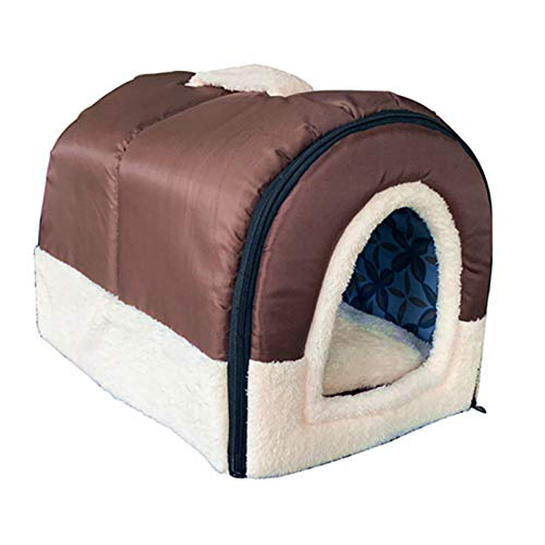 ANPPEX Igloo Dog House, Portable Cat Igloo Bed with Removable Cushion, 2 in 1 Washable Cozy Dog...