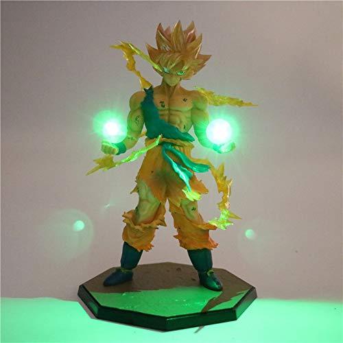 Dragon Ball Z Broly Super Saiyajin Power Up Led Beleuchtung Anime Dragon Ball Z Nachtlicht Sammeln Modell Spielzeug Figur, anwendbar auf Weihnachtsgeschenke-w, Dragon Ball 10