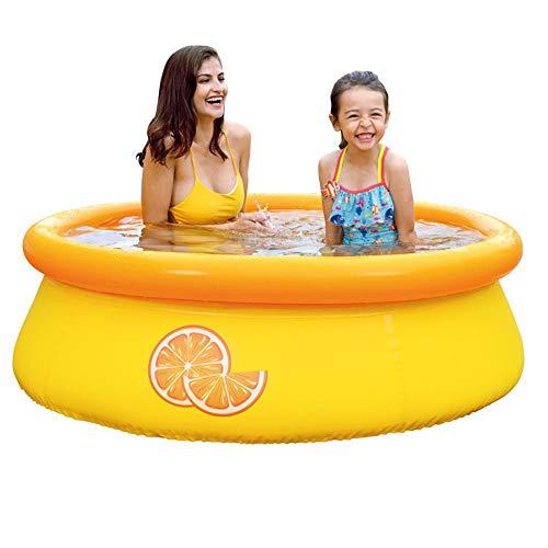 ZIEO Blow Up Pool Wasser Aktivitätszentrum Garten Im Freien Aufblasbaren Pool PVC-Clip Netto-Umweltschutz Verdickte Planschbecken Sprinkle and Splash Spielmatte (Color : Yellow, Size : One Size)
