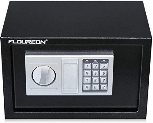 Caja Fuerte de Seguridad, FLOUREON 8.5L Cerradura de...