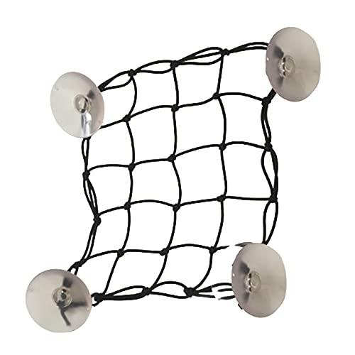 Alftek Bolsa de malla portátil para tabla de surf con 4 ventosas, bolsa de malla de almacenamiento de cuerda de nailon para tabla de remo, bolsa de red de cubierta de carga elástica accesorios de surf