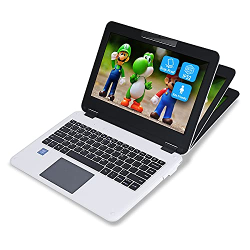 Mini Laptop Student, GEEKPLUS Notebook Computers 11.6 Inch Drop-Proof Kids PC Windows 10 Laptop 6GB/128G, IP52 Waterproof Dustproof Intel Celeron N4000 Processor Small Computer Education Office PC
