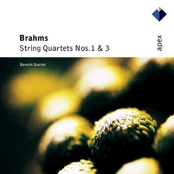 Brahms : String Quartets Nos 1 & 3  -  APEX