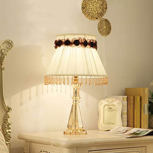Tafellamp Europese Stijl Retro Tafellamp Bed Nachtlampje Woonkamer Decoratieve Verlichting, Hoge 60 cm (Knop Schakelaar)
