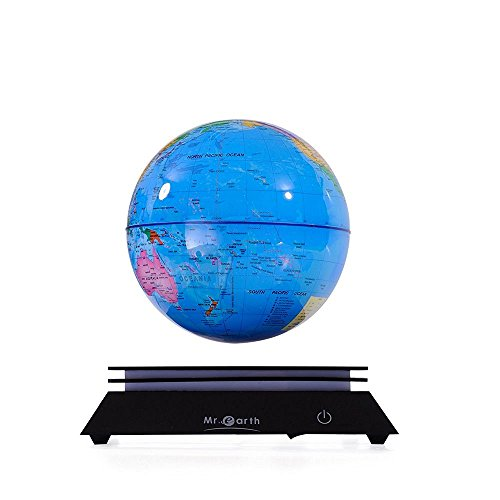 Mr-earth levitation Globe Rotating Globe Levitron Floating Rotating World Desk Globes office ornaments Home Decor ?6in blue?