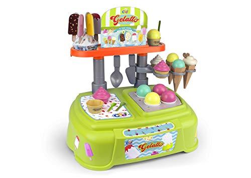 Preciosa heladería para preparar los helados y polos más ricos Incluye 38 accesorios: bolas de distintos sabores, cucuruchos, y mucho más Indicado para niñas y niños a partir de 3 años Los juegos de rol fomentan la imaginación, la creatividad, la emp...
