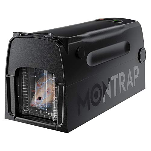 MONTRAP Electric Rat Trap with Automatic Door, Upgraded Rodent Zapper, Reusable Smart Mouse Killer, Indoor and Outdoor Mousetrap, Effective & Humane, Rats Catcher Sanitary Safe & No Touch, RK1000