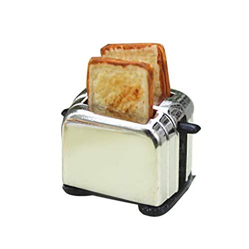 Ceally Juguete Mini máquina de Pan de Juguete Accesorios de Comida de Juguete casa de muñecas de Juguete Juguete Modelo pequeño