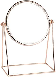Makeup Mirror Vanity Cosmetic Mirror Round Surface 360 Degree Swivel Rotation with Elagant Metal Stand for Home Bedroom Ba...