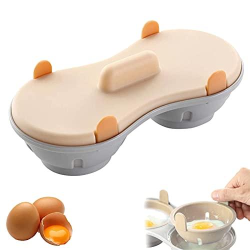 Mikrowelle Ei Wilderer Eierdampfer Eierkocher Maker Eierkocher Eier Cooker Pochiertes Ei Maker Mikrowelle 2 Ei Eierkocher Aus Kunststoff für Poschiertes Ei Topf Mikrowelle Kochgeschirr Doppel Cups