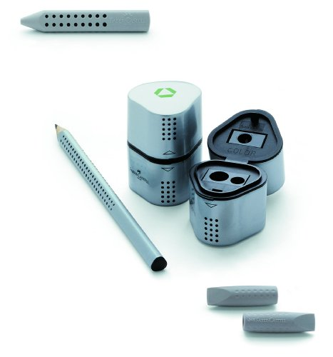 Faber-Castell GRIP 2001 Starter Kit con 12 117000 GRIP 2001 matite HB / 1 183.800 GRIP 2001 Trio temperamatite / 1 187000 2001 Radierkappe