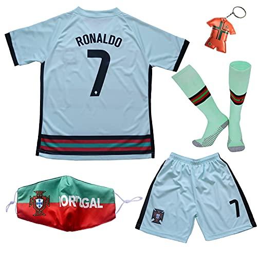 BIRDBOX 2021 Portugal Away White #7 Ronaldo Kids...