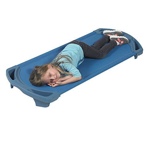 """Angeles AFB5730OB Space Line Single Cot, Standard, 55"""" Height, 22"""" Length, 5"""" Width, Blue"""