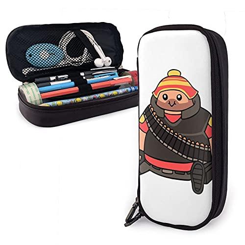 The Walkie Dead - Estuche de piel para lápices de gran capacidad, organizador de escritorio con cremallera para la escuela y suministros de oficina, estilo 10