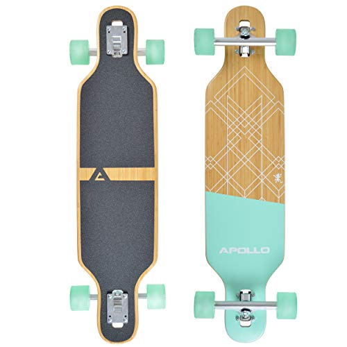 "Apollo Longboard Savaii 36"" Komplettboard mit High Speed ABEC Kugellagern, Drop Through Freeride Skaten Cruiser Board"