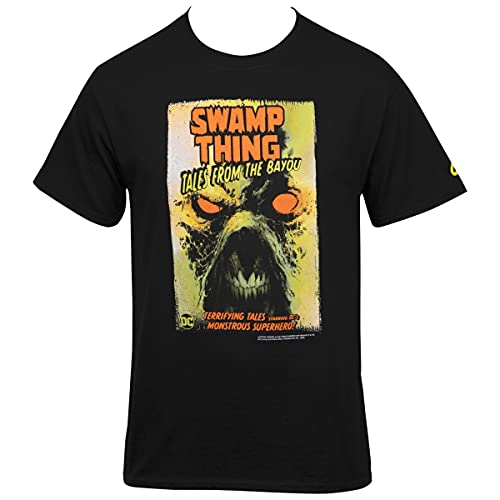 Camiseta DC Comics Swamp Thing Tales from The Bayou Comic Cover, Preto, L