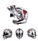 Goolife Moto Crash Modular Helmet High Safety- JIEKAI Full Face Racing Casco De Moto con Visera para Hombres Adultos Mujeres,XXL