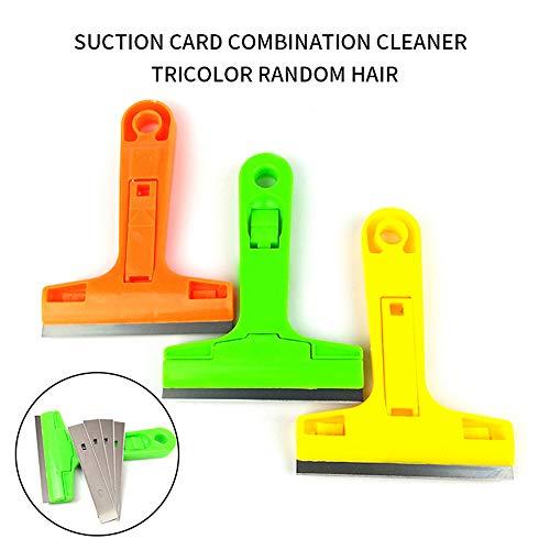 RainBabee Tragbarer Reinigungsschaufel Messerschaber mit Klingen für Messerglasboden Bodenfliesen Dekontamination Reinigungsschaufel