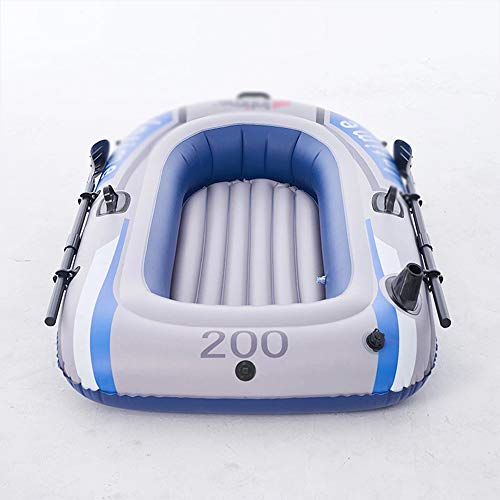 ACEWD Schlauchboot 2 Personen Kanu, Kajak Boot Zweisitzer, Gummiboot Ruderboot Angelboot Sportboot Paddelboot Inflatable Boat,C