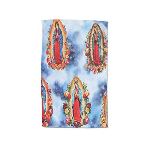 Nuestra Señora Guadalupe Mexicana Santa Virgen María - Toalla para mujer, 100% algodón, muy absorbente, suave, toalla de pareo, ducha, spa, sauna, playa, gimnasio, bata