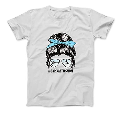 Womens Gymnastics Mom Messy Bun Hair Glasses T-Shirt Sweatshirt Hoodie...