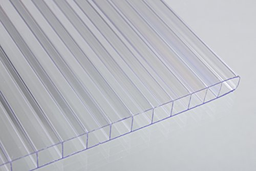 Falken Design Falkenacrylic-MW-CL-6MM/2448 Mw-CL-6mm/2448 Multiwall Polycarbonate Sheet, Greenhouse Cover, 6mm (0.236') 24' x 48' - Clear, Polycarbonate