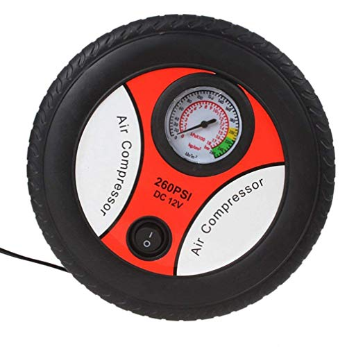 ThreeCat gonfiatore pompa di Aria pompa gonfiagomme gonfiaggio da auto per auto con pompetta di pneumatici di Auto Portatile, compressore d' aria di pressione con misuratore di pressione
