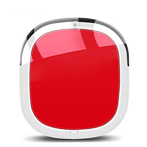 JQRXCQ Robot Aspiradora Robot de Barrido Limpieza Inteligente Un botón Iniciar Inicio,Rojo