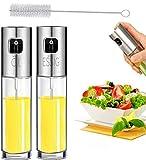 Oil Sprayer - Oil Dispenser, For Cooking, BBQ and Air Fryer Premium Glass Oil Vinegar Soy Sauce Spray, For BBQ, Cooking, Baking, Roasting and Grilling (2 PCS)
