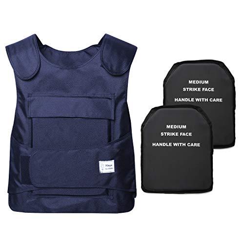 Hinyx Wasserdicht Stichschutzweste mit Verstellbarer Klettverschluss Polizeiweste, Blau (No Metalleinlage)