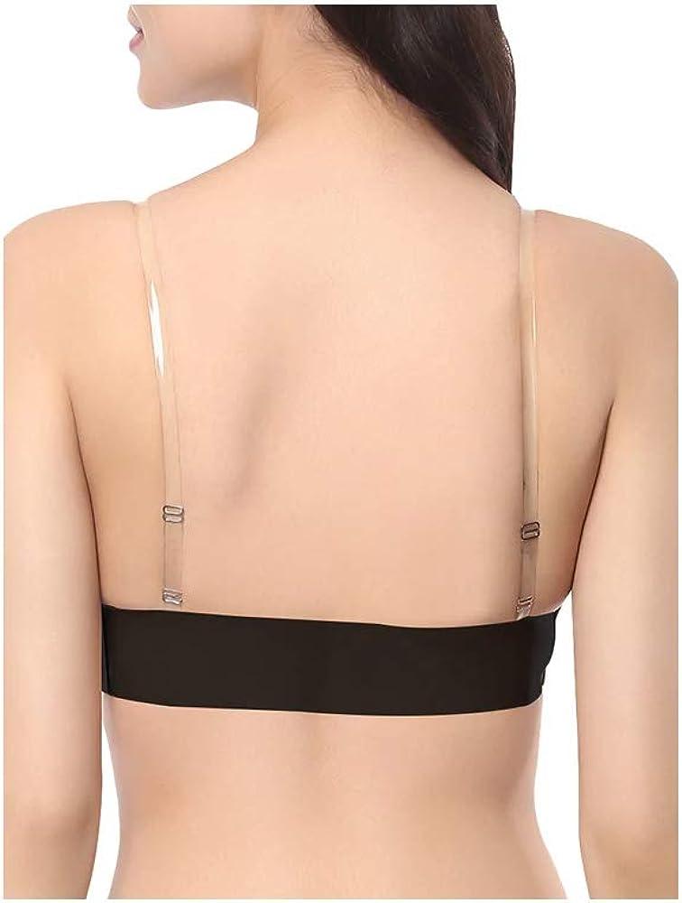 Transparent 1 Pair Transparent Adjustable Women Clear Invisible Underwear Bra Set Shoulder Straps High Elastic Replacement Bra Straps Invisible Bra Strap