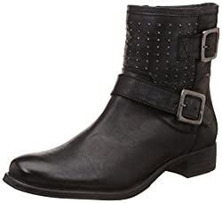 Hush Puppies Womens Kendra Rivets Leather Boots