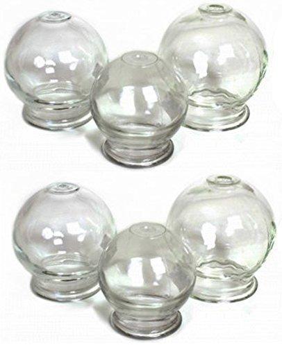 Schröpfen aus Glas (Feuerschröpfen) Vakuum Massage Neu