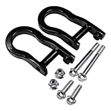 CARMOCAR Front Tow Hooks Ring Replacement for 2007-2019 Chevy Silverado GMC Sierra 1500 in Black Front Lower Bumper Trailer Ring Replace 84072463 Steel Alloy