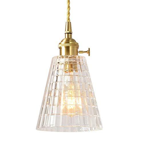 ZRWZZ Moderne kroonluchter met diamant, instelbare woonkamer, eenvoudige enkele kop, kleine hanglamp, E27-fitting, lampenkap, high-end puur