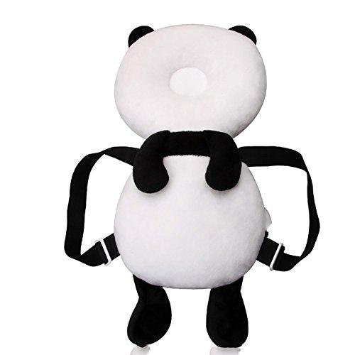 Frrmmxjc Cartoon Panda Nourrisson Bébé Oreiller Drop-Proof Coussin De Protection De La Tête d'apprentissage Steps Good Helper,B
